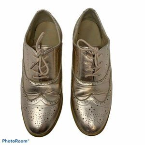 Bucco Oxee Vegan Leather Rise Gold Oxford Loafers